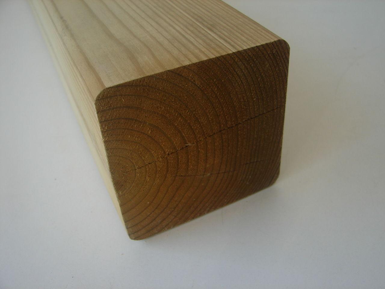 4x Zaunpfosten osmo KDI 960x90x90mm Fichte Holz &Stahlhandel H