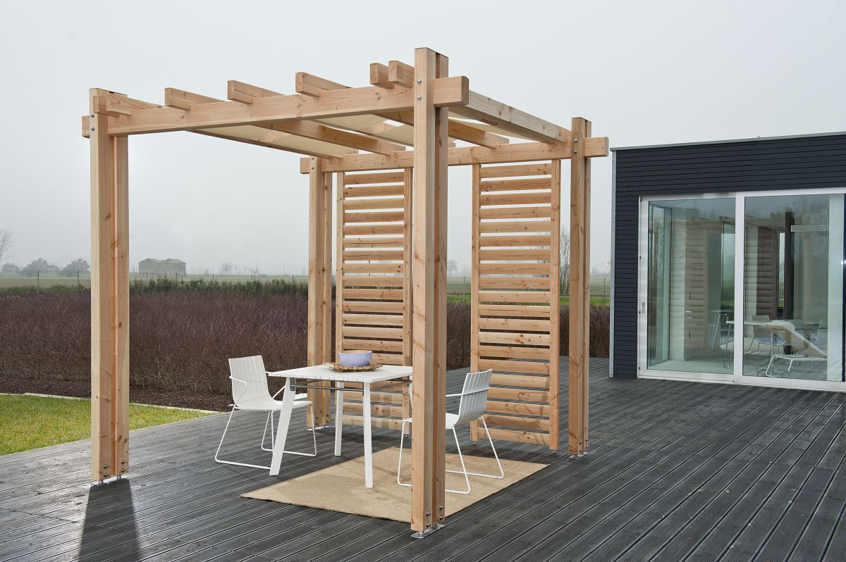 pergola vision 300 x 300 x 271cm douglasie unbehandelt holz stahlhandel h schenk gmbh. Black Bedroom Furniture Sets. Home Design Ideas