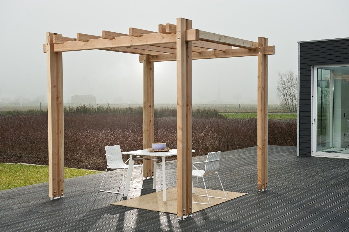 pergola vision 300 x 500 x 271cm douglasie unbehandelt holz stahlhandel h schenk gmbh. Black Bedroom Furniture Sets. Home Design Ideas