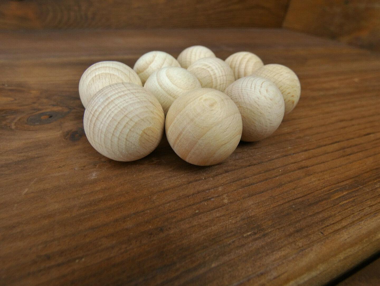 Bastel-und Gestaltungsholz unbehandelt 10 Stück Holz-Kugeln 25 mm Ø Buche